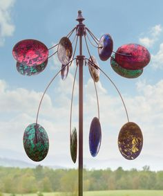 Our wind spinners, whirligigs and garden spinners bring incredible movement to your outdoor d�cor. Shop metal wind spinners, copper wind spinners and more. Kinetic Wind Spinners, Garden Wind Spinners, Mobiles, Wind Sculptures, Sculpture Art, Yard Ornaments, Metal Yard Art, Bicycle Art, Bicycle Wheel