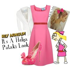 """Hey Arnold! It's A Helga Pataki Look"" by squishybaby on Polyvore"