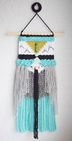 Handwoven Tapestry  Woven Wall Hanging   Wall Weaving   Woven Wall Art - modern, home decor, kids room, boho nursery, mint green black weave by whiskerwoven on Etsy https://www.etsy.com/listing/505297331/handwoven-tapestry-woven-wall-hanging