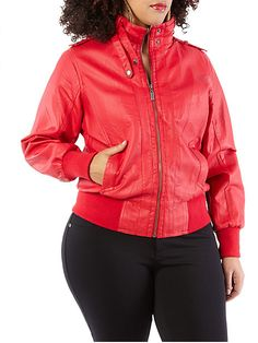 are you one the fast track? well leather jackets in a bright color will make you look bold and out going!