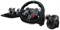 Logitech G29 Driving Wheel + G Force Wheel Shifter for PS4, PS3, PC Combo