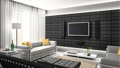 Loving these Faux Leather Panels - they are easy to install, affordable & look and feel like real leather.