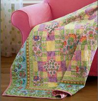 Everything Nice by Christine Stainbrook is an easy and cute little quilt with a fun design using a border print.