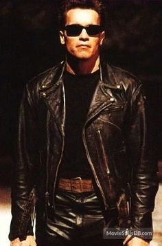 Today, thanks to the professional designers that we can easily access the high quality exact replicas of the celebrity inspired dresses. This Arnold Schwarzenegger Jacket has been made of high quality leather material to offer the same look as seen in the The Terminator 2, Terminator Movies, Arnold Schwarzenegger, King Kong, Sci Fi Movies, Movie Tv, Arnold Movies, Celebrity Inspired Dresses, The Expendables