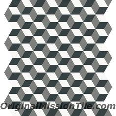 harlequin cube hexagonal tile