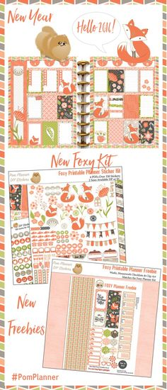 New Foxy Kit Freebie Planner Stickers