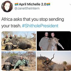 Africa should let bevis and butthead into the country and then arrest them for poaching. It would be epic payback