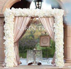 Another beautiful Karen Tran design chuppah for a wedding ceremony Aisle Decor Ceremony Decor Wedding Decor Wedding Flowers