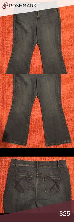 Lane Bryant SZ 22 Flare Tighter Tummy Technology Lane Bryant Flare SZ 22 Tighter Tummy Technology Jeans! Been washed one time because I purchased them last year and couldn't send them back! They are new but has  no tags or labels Lane Bryant Jeans Flare & Wide Leg