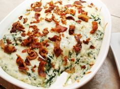 Grits and Greens, hadn't heard of this but it sounds good.  Can't go wrong with cheese and bacon!