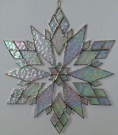 stained glass snowflake suncatcher design 21 by bitsandglassart