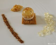 """La boule de foie gras, gelée de Sauternes et brunoise de poires de Corinne du blog """"Mamou & Co"""" inspirée du blog """"Cuisine plurielle"""""""