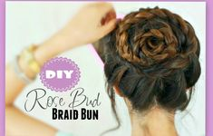 ★ROSE BRAID BUN TUTORIAL | CUTE HAIRSTYLES FOR PROM