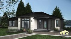 Kiera is a model of contemporary prefabricated house offering two or three bedrooms. Visit this model today in saint-jacques-de-leeds. Dream House Exterior, Exterior House Colors, Modern Architecture Design, Modern House Design, Small Villa, House Color Schemes, House Siding, Street House, Ranch House Plans