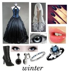 """""""black butler (oc)"""" by ironically-a-strider21 ❤ liked on Polyvore featuring Demonia, Charlotte Tilbury, Liz Claiborne and Blue Nile"""