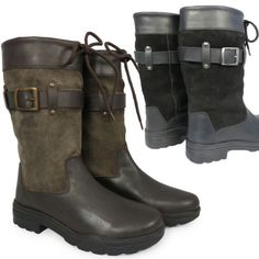 Adults-Black-Brown-Wellies-Riding-Dog-Walking-Stable-Leather-Country-Boots-3-10