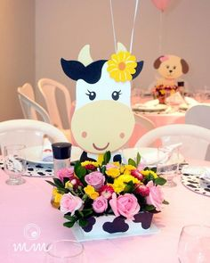 Image may contain: flower Cow Birthday Parties, Country Birthday Party, Wild One Birthday Party, First Birthday Themes, Cowgirl Birthday, Cowgirl Party, First Birthdays, Farm Themed Party, Farm Party