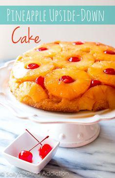 Here is my favorite recipe for Pineapple Upside-Down Cake! sallysbakingaddiction.com