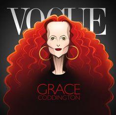 VOGUE Grace Coddington by Glen Hanson