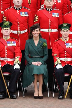 Kate Middleton Wears Green Emilia Wickstead Coat Dress on St Patrick's Day