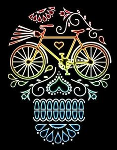 Image result for bicycle sugar skull