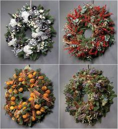 Beautiful Christmas door wreaths