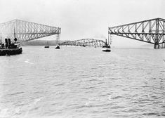 Quebec Bridge, west of Quebec City, Canada--After four years of construction, a… Quebec Montreal, Montreal Ville, Quebec City, Engineering Disasters, Civil Engineering, Johnstown Flood, Chute Montmorency, Chateau Frontenac, Le Petit Champlain