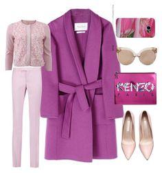"""pink & purple"" by manuelarichelmi on Polyvore featuring MaxMara, Linda Farrow, Giambattista Valli, Kenzo, Samsung, women's clothing, women, female, woman and misses"