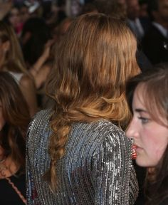 Cara Delevingne's messy braid at the Paper Towns premiere in NYC