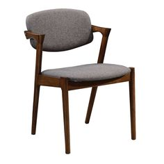 Create a luxe mid-century dining room with the help of the Benzara Wooden Modern Dining Side Chair - Gray - Set of 2 . This armless chair features a. Contemporary Dining Chairs, Solid Wood Dining Chairs, Dining Chair Set, Dining Room Chairs, Side Chairs, Office Chairs, Wood Table, Dining Nook, Wood Buffet