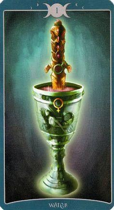 Ít biết Lá Ace of Water - Book of Shadows Tarot (As Above) bài tarot