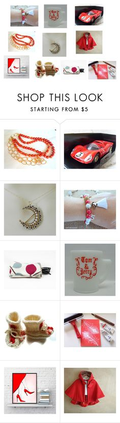 Red and White Etsy Finds. by iridonousajewelry on Polyvore
