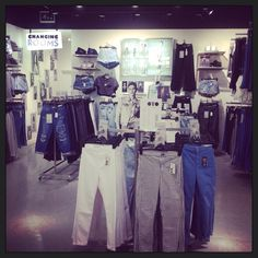Our newly merchandised denim department. Come and find your perfect fit