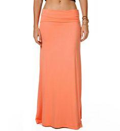 Peach Maxi Skirt