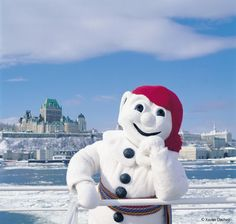 Bonnhomme Caranval is the smiling face of the Québec Winter Carnival and the busiest snowman in Québec City (Photo Credit: Xavier Dachez) #events #festival
