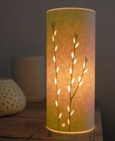 Small Catkins Lamp by Hannahnunn on Etsy, Minimalist Room, Scrapbooking, Paper Lanterns, Lampshades, Ceramic Pottery, Candle Holders, Table Lamp, Lights, Simple