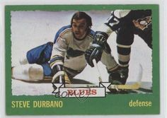 1973-74 Topps #168 Steve Durbano St. Louis Blues RC Rookie Hockey Card   Sports Mem, Cards & Fan Shop, Sports Trading Cards, Ice Hockey Cards   eBay!