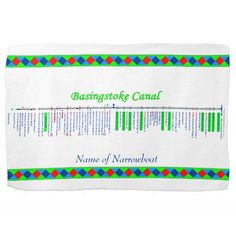 Basingstoke Canal UK Inland Waterways Route Green Towels