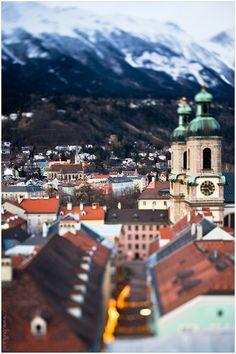 Innsbruck in miniature 3 by Maria Netsounski Innsbruck, Places Around The World, Around The Worlds, Tyrol Austria, My Road Trip, Central Europe, Bavaria, Tilt, Alps