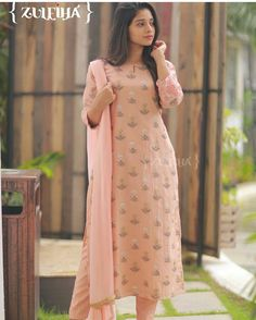 Best 12 Fine floral prints to fill ur day with zeal n zest! Salwar Designs, Kurti Neck Designs, Kurta Designs Women, Dress Neck Designs, Kurti Designs Party Wear, Stylish Dresses For Girls, Stylish Dress Designs, Chudidhar Designs, Simple Kurta Designs