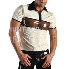 >> Click to Buy << Latex T Shirts For Men Fetish Exotic Short Sleeve Patchwork Sexy Plus Size Customization 100% Natural Handmade Free Express #Affiliate