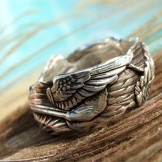 Cool Handmade Artisan Silver Rings, Angel Wing Ring | by HappyGoLicky Jewelry