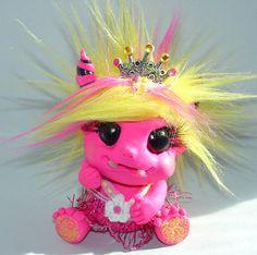 polymer clay little monster troll princess