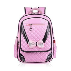 1516c2d78014 Vere Gloria Children School Backpack Bags for Primary Girls Students PU  Leather Bow (2-