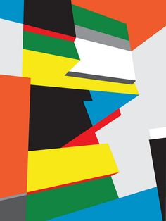 Untitled Composition (#14) - Abstract Geometric Art by Bryce Hudson by brycehudson, via Flickr