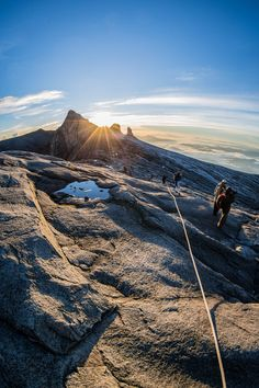 Sunrise on Mt. Kinabalu | India : We must go there mama! Me : Let's go!