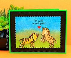 Lawn Fawn Critters - Wild Zebras  - Me And My Daily Papercraft Blog - Handmade Card by PriCreated
