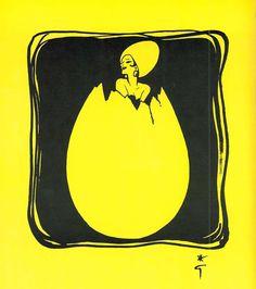 René Gruau - Illustration - Livre de Christian Dior 'La Cuisine Cousu Main' - L'Ouvrage a été Publié par la Maison Dior en 1972, en Hommage à son Fondateur, Passionné de Cuisine