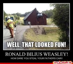 Ron, Ron, Ron... & of course, Harry's somewhere...