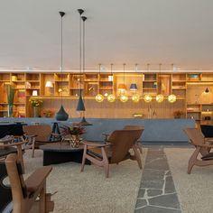 Studio MK27 surrounds Rio lighting showroom with wooden lattice